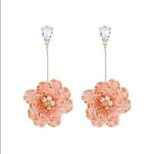 NWT Flower Drop Earrings with Gold Accent
